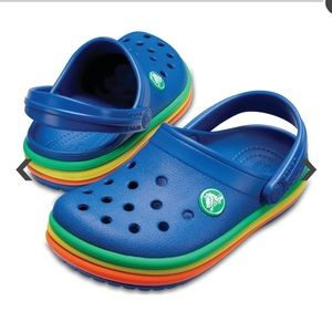 Crocs Rainbow Band Clog